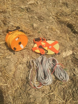 Cable, measuring tapes and ropes